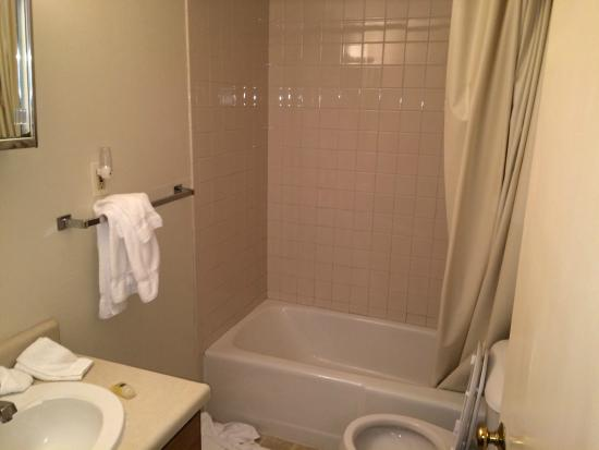 River View Resort: Bathroom - the mess is our own
