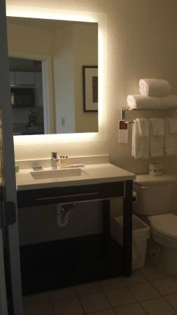 Hawthorn Suites by Wyndham Hartford Meriden: Mirror with Outstanding Lighting and Modern Look