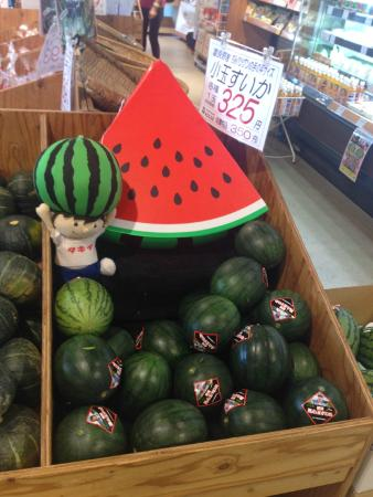 Furano Marche: Watermelons at the market