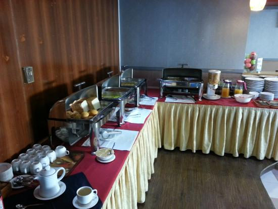 Richmond Hotel Apartments: Breakfast buffet changed slightly daily, was worthwhile upgrade to include.