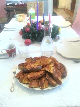 Hockman Manor House B&B: Panetone French Toast Breakfast