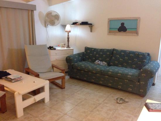 Sorobon Beach, Wellness & Windsurf Resort: Living room of 1 bed with kitchenette