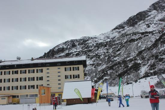 Sporthotel St. Christoph: The hotel from the slopes