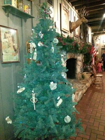 christmas tree at cracker barrel
