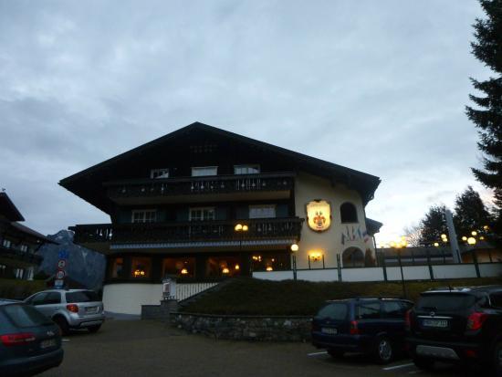 Hotel Bergruh: der Moment unserer Ankunft..