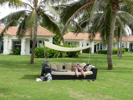One of several hammocks to while away the time in