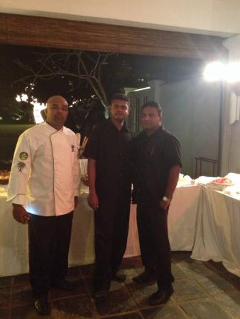 Club Villa: From left: Ex:Chef Dinesh , Manager-Heshan, F&B Manager Tilak