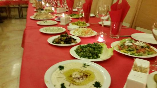 Dinner Table at Christmas Party