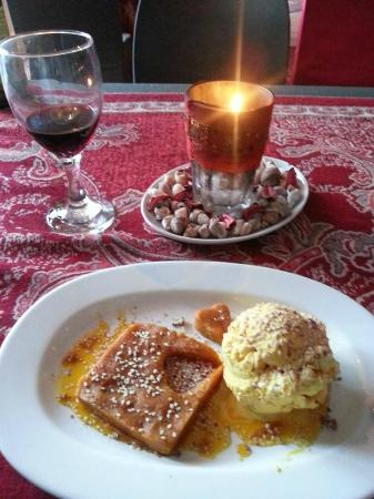 Persian Restaurant: special PHF dessert halva and traditional ice cream