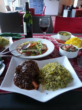 Persian Restaurant: lamb and rice! AMAZING