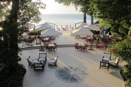 Sandy Lane Hotel : View of lower terrace onto beach