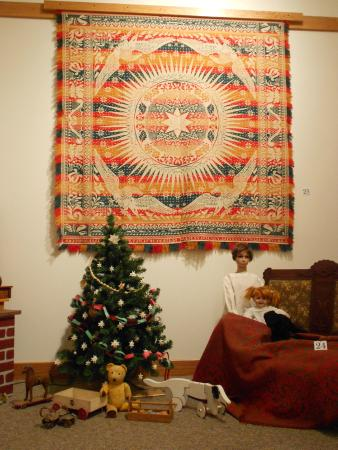 Kalona Historical Village: Part of the Coverlet display