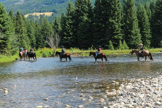 Hawley Mountain Guest Ranch: traversée de la Boulder River