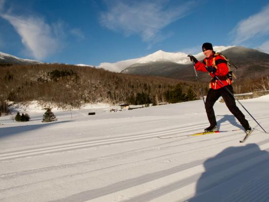 Great Glen Trails Outdoor Center: Skate skiing or classic, groomed for both.