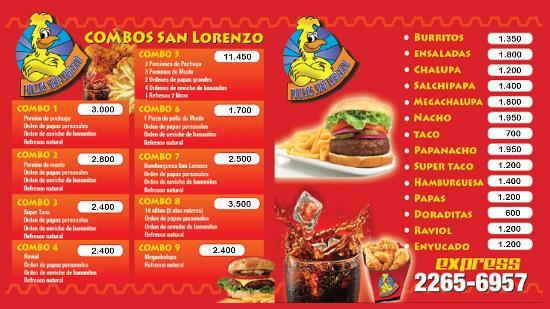 El Sabroso Restaurant Menu