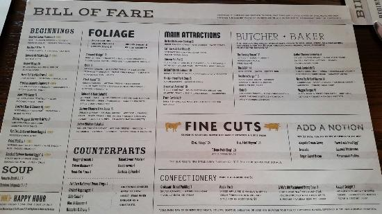 Lunch Menu - Picture of The League Kitchen & Tavern, Austin ...