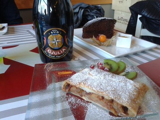 Oca Bianca Osteria: O strudel sem açúcar, a torta de chocolate e a Nera Sud, servidos no Ocabianca