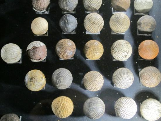 Golf Museum : A small part of the golf ball collection