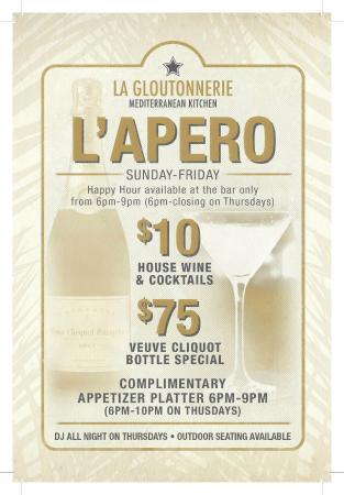 La Gloutonnerie: Happy hour Flyer