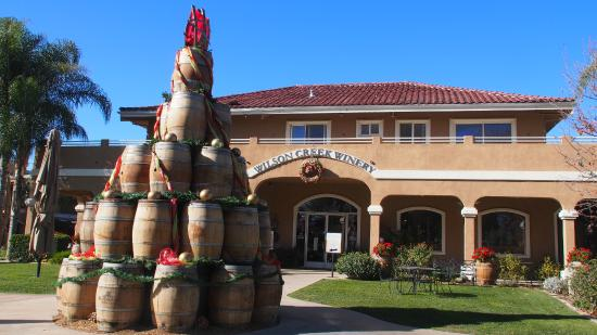 Wilson Creek Winery: Wine Barrel Christmas Tree