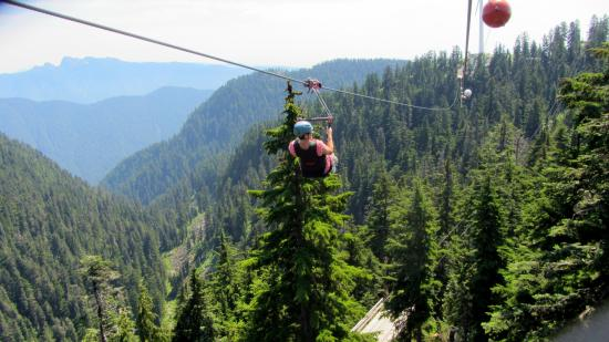 Grouse Mountain Ziplines Great Views