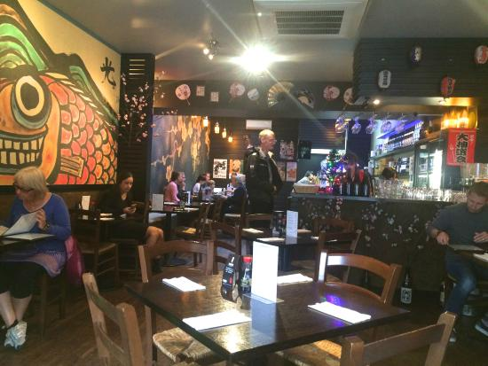 Hikari Japanese Restaurant: Inside Hiraki.