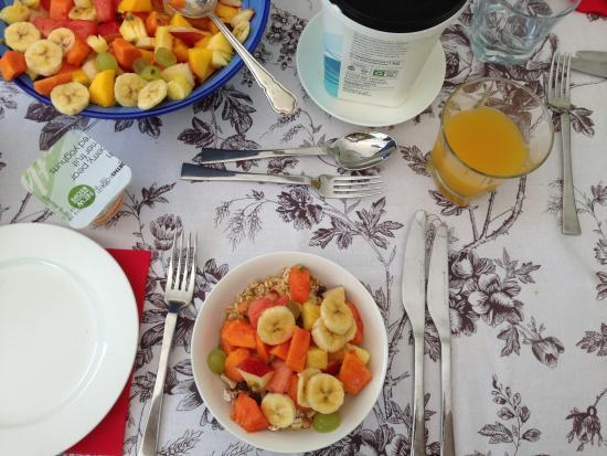 Grace Guest House: Breakfast offerings