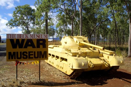 Mareeba, Australia: Matilda tank as gate guard for the Beck Museum