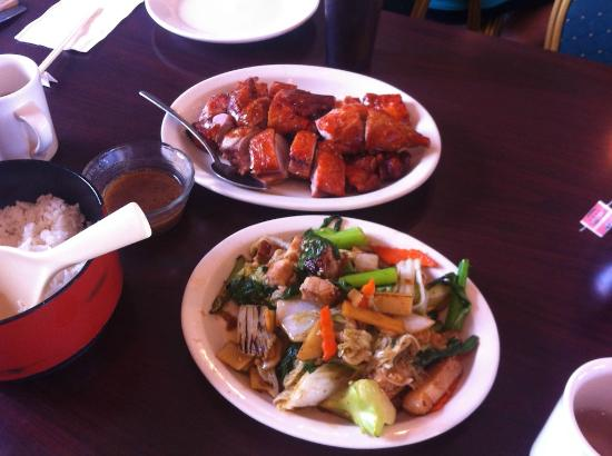 Bbq duck roast pork w veggies picture of garden island for Asian cuisine kauai
