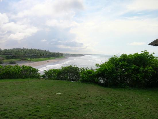Bali Island Horse: At the halfway stop, looking over to the stretch of beach we had crossed.