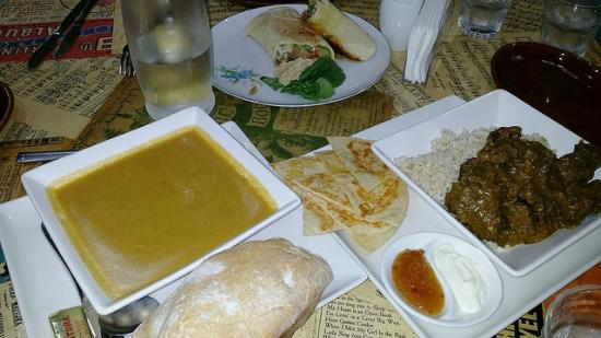 Soul Food: Beef curry, vegetable soup and Doner kebab