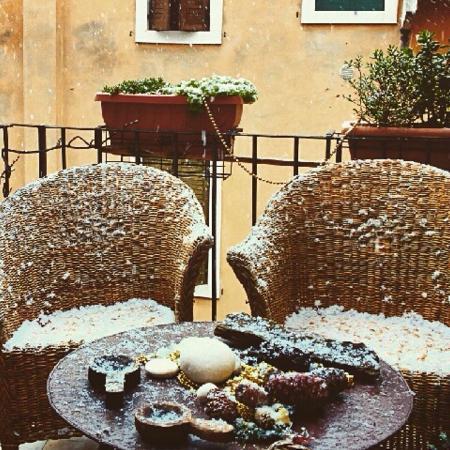 B&B Sanzenetto: Nostro terrazzino sotto la neve