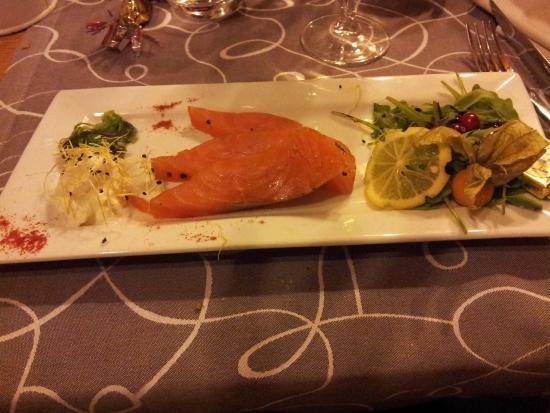 Restaurant-Pub La Ferme de Reberty : Saumon fumé label rouge d'Ecosse