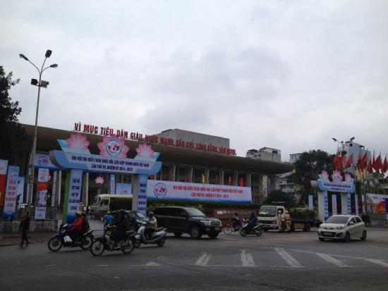 Cultural Friendship Palace (Cung Van Hoa Huu Nghi): From across the street