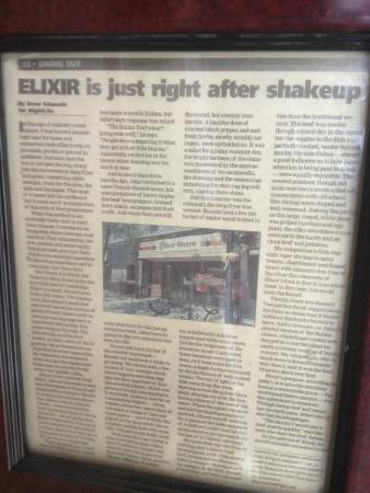 Elixir Bistro: kitchener record
