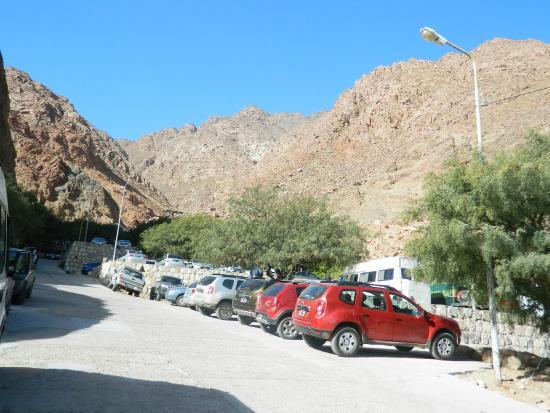 Termas de Fiambala: Estacionamiento a full