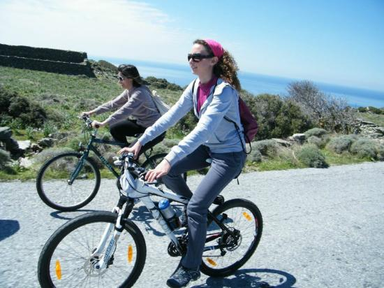 Andros by Bike Day Tours : riding...