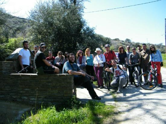Andros by Bike Day Tours : lots of friends...