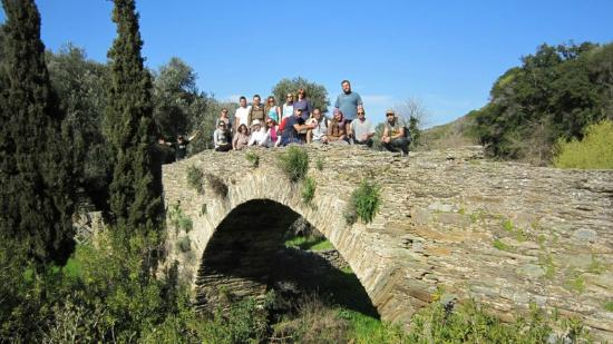 Andros by Bike Day Tours : on the old brigde...