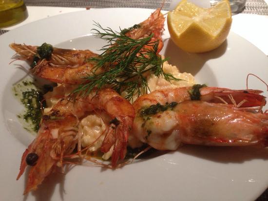 Hotel L'Aigle des Neiges: Shrimps