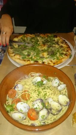 Da Mimmo : Pizza à la truffe et spaghetti aux palourdes