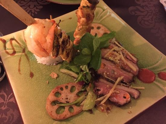 Good Morning Vietnam: Ente und Shrimps von Menü für 2