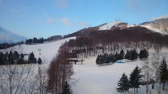 Rusutsu Resort Ski: View from our room of North wing. Overlooking the white lovers lane.