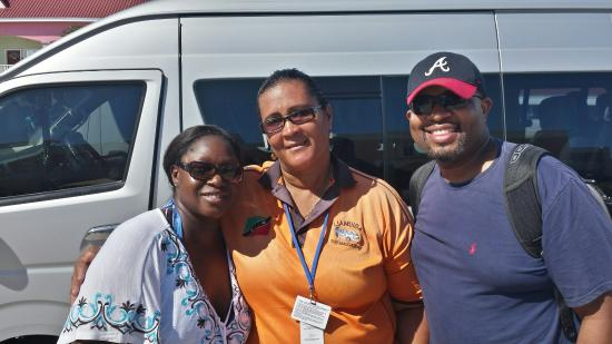 Annie's Caribbean Tours and Excursions: My husband and I with Ms.Annie.