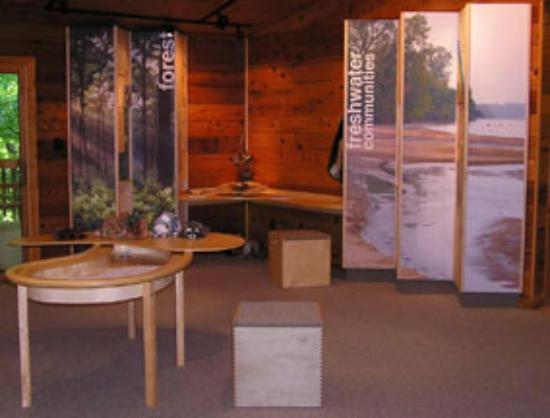 Arkansas City, อาร์คันซอ: Display inside Chaplin Nature Center