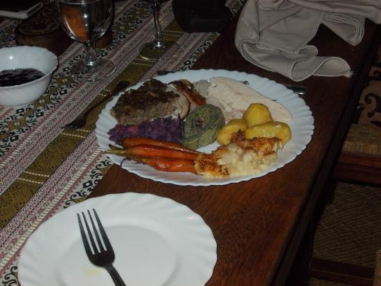 Ngare Sero Mountain Lodge : Roast turkey Christmas dinner