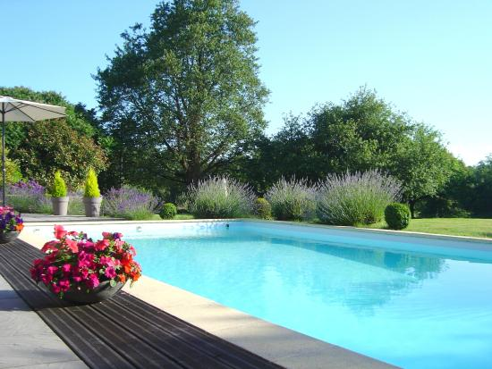 La Longere, Luxury b&b: View across the pool from the terrace