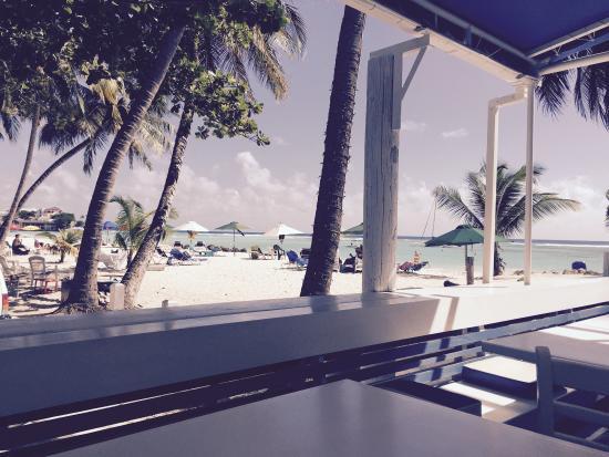 Coast, home of the Carib Beach Bar - view along Sandy Beach