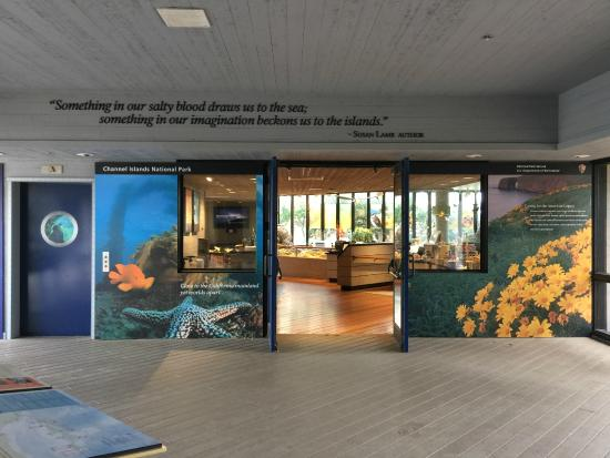 The Robert J. Lagomarsino Visitor Center at Channel Islands National Park: Visitor Center Entrance.
