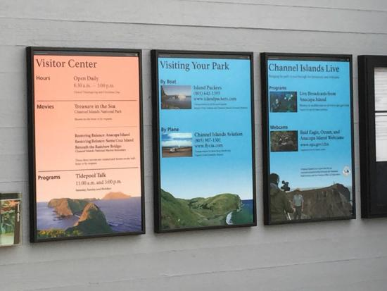 The Robert J. Lagomarsino Visitor Center at Channel Islands National Park: Times, dates, etc.